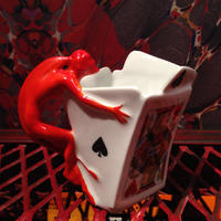 Royal  Bayreuth  Bavaria   Devil & Card  Creamer【1】