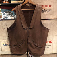 Vintage Brown Leather  Vest