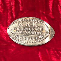 Vintage  KKK Crushed Coin