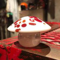 Vintage Glass Mushroom Paperweight
