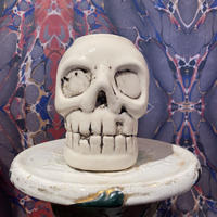 Vintage  Ceramic White Skull  Mug