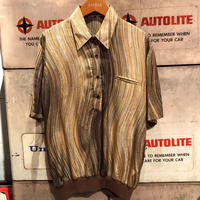 Vintage  Metallic Swirl Stripe Shirt