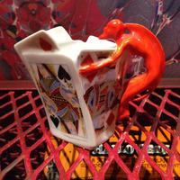 Royal  Bayreuth  Bavaria   Devil & Card  Creamer【2】