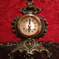 Antique West German Metal Clock
