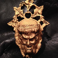 Vintage  Metal  Satan  Match  holder