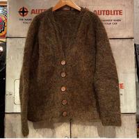 Vintage Brown Mohair  Cardigan