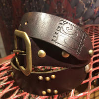 South Paradiso  Leather  Studded  Belt  32""