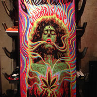 8th  CANNABIS  CUP   Beach Towel