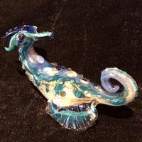 Sea Horse Glass Hand Pipe