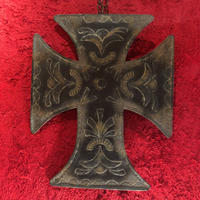 Vintage Wall Decor Tin Cross