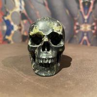 Natural Plumite  Jasper  Skull