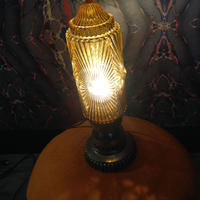 Art  Deco  Amber  Table  Lamp