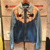 【Antonio  Giuseppe】  Vintage Western  Denim×Leather  Jacket
