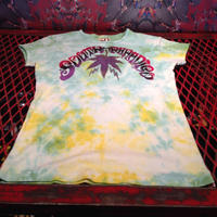 【South Paradiso Leather】 Cannabis  Tie  Dye Tee
