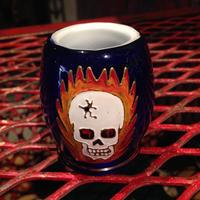 Hand Painted Skull Pot Jar