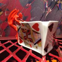 Royal  Bayreuth  Bavaria  Devil & Card  Ashtray