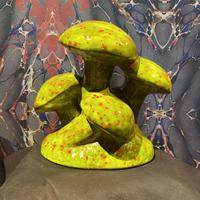 70's Vintage Ceramic  Mushroom  Statue