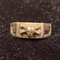 Vintage Sterling 830 Crossbones  Skull Ring