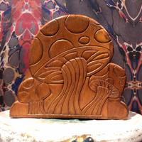 Vintage Mushroom Wood Stand