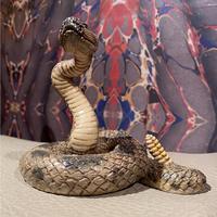 Vintage  Rattle  Snake  Statue
