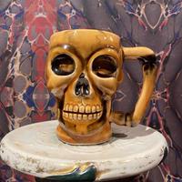 Vintage  Ceramic Skull  Mug