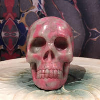 Natural  Rhodonite   Skull