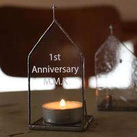 【メッセージ文字彫刻】Church Candle Holder 単品