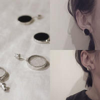 【doro】CIRCLE PIERCE | CLEAR・BLACK (HAKU-GLASS)