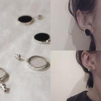 【doro】CIRCLE PIERCE | CLEAR・BLACK (HAKU-GLASS)