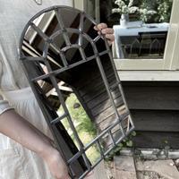 【受注制作】ZAZA GLASS WORK ステンドグラスウォールミラー | STAINED GLASS WALL MIRROR | 壁掛け・立て掛け