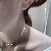【6/20までの限定価格】片耳 \おまかせ/  KAKERA HANGING EARRING | PIERCE ■ 金具とチェーンが選べます