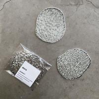 【6/1再入荷】水たまりのような形をした豆皿コースター【S】モザイク凹凸ガラス