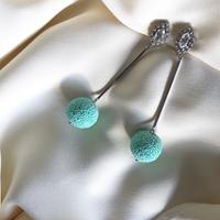 mint  green  pierce  earring
