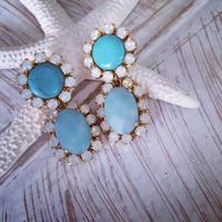Turquoise pierced earring