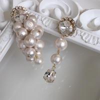 CottonPearl Crystal pierced earring