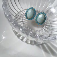 Turquoise stone pierce earring