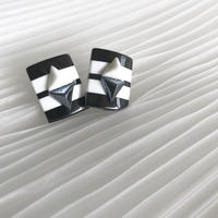 monotone triangle pierce earring