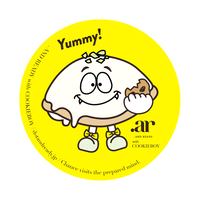 オリジナルキャラクター レモンケーキちゃん缶バッジ