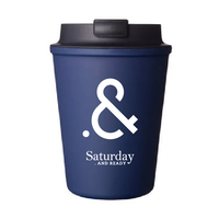 "Saturday . AND READY "".&"" WALLMUG SLEEK Tumbler / NAVY"
