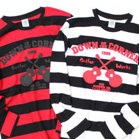 "L/S STRIPE TEE ""GUITAR WORKS"""