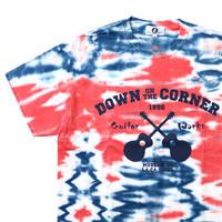 "DOWN ON THE CORNER/GOOD ENOUGH - S/S TEE ""GUITAR WORKS""  TIE DYE"