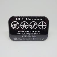 ACEヒーローズ 丸ロゴ缶バッジ