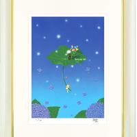 【ジークレー版画/四つ切サイズ】「輝く花」