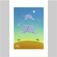 「ぞうくんの夢の風船」ポストカード