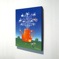 【デジタル版画/B4キャンバス】「ドリーム☆ハウス」