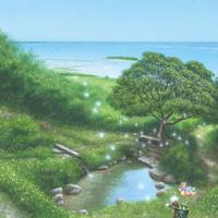 「垣花樋川を渡る恵みの風にのせて」ポストカード