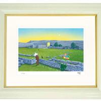 【ジークレー版画/インチサイズ】「中城城跡」〜『スターリィマンと旅する沖縄の世界遺産を巡る9つの物語』より〜