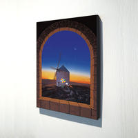 【デジタル版画/B4キャンバス】「風の旅人」