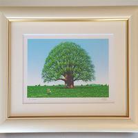 【ジークレー版画/インチサイズ】「若葉の樹」