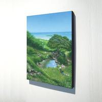 【デジタル版画/B4キャンバス】「垣花樋川から恵みの風にのせて」